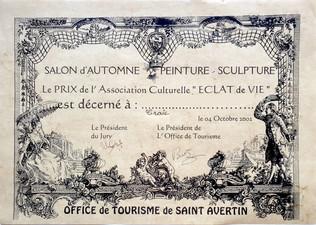 """Prix de l'Association Culturelle """"Éclat de Vie"""""""