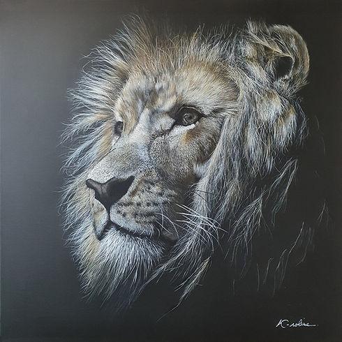 artiste-peintre-toulouse-k-roline-lion-acrylique
