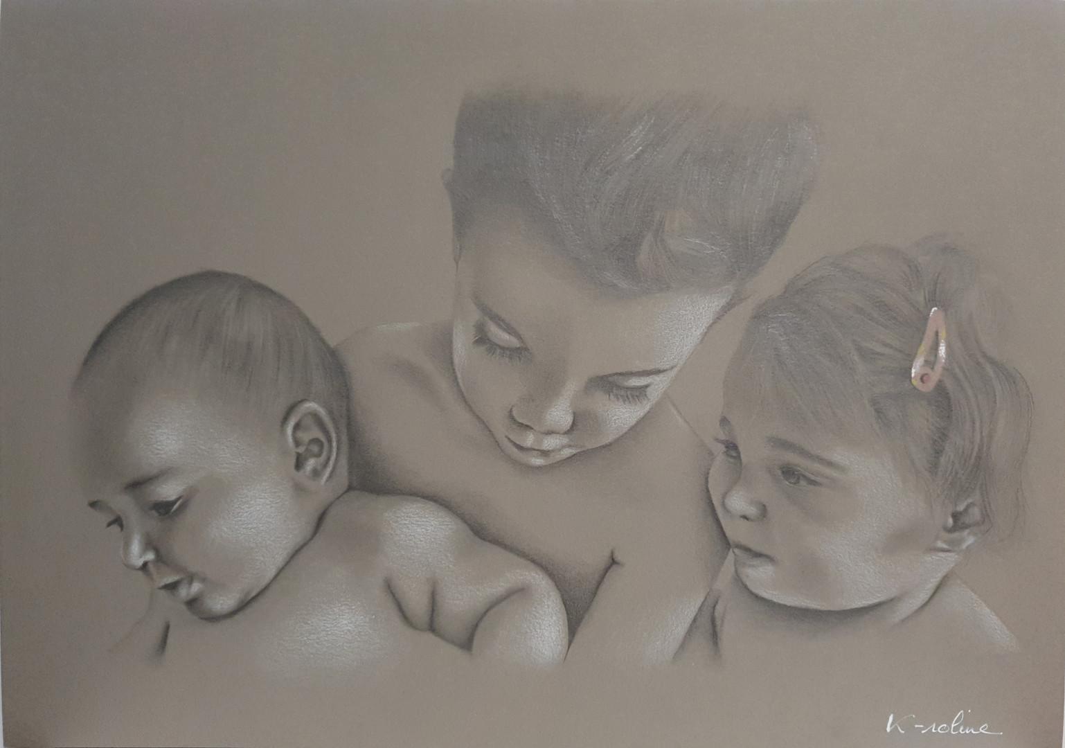 3 faces portrait