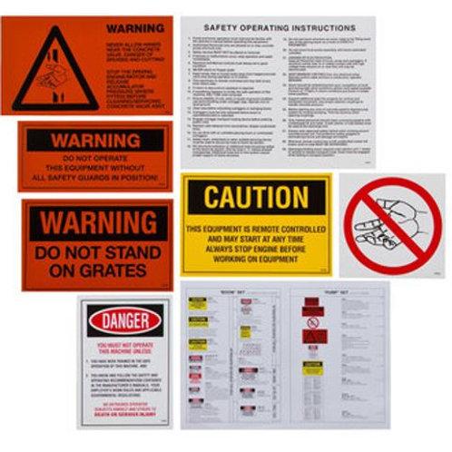 Safety Sticker Kit (Line Pump)