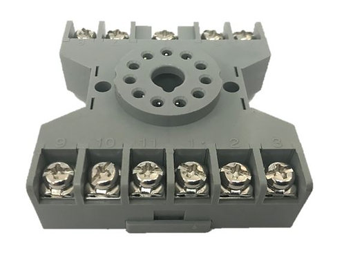 Relay Base (flat, suits 11 pin latching relay)