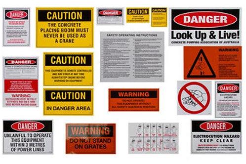 Safety Sticker Kit (Boom Pump)