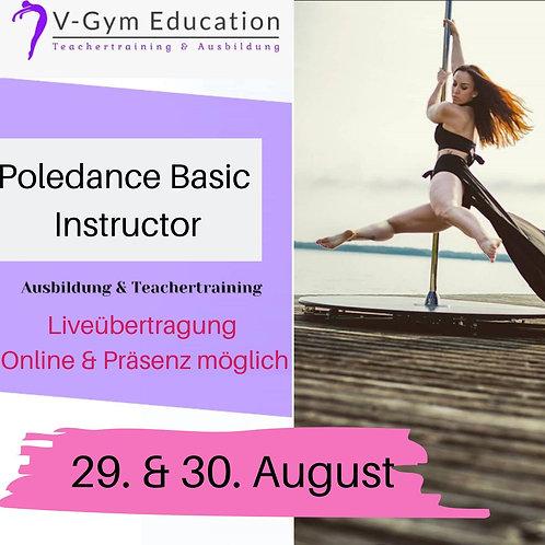 Live Online Ausbildung Poledance Basic Instructor August 2020