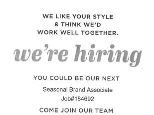 Seasonal Brand Associate