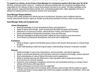 Opportunity Place - Case Manager (Temporary)