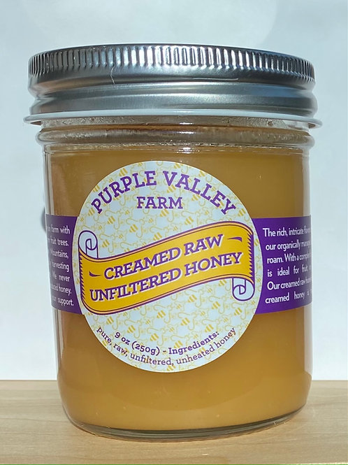 Raw Organic Creamed Honey - 9 oz. Jar