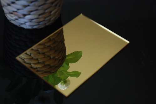 Gold Mirror Acrylic 3mm Perspex Sheet 2440x1220x3mm