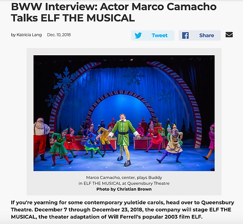 Interview with Marco Camacho with Broadway World