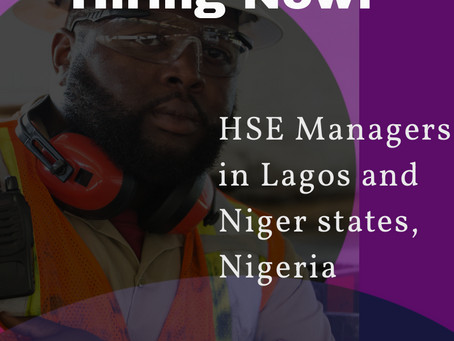 Job opening for HSE Managers