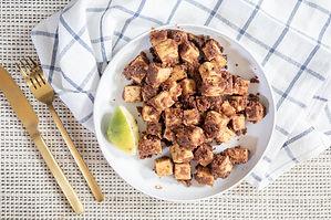 Crispy Almond Butter Tofu