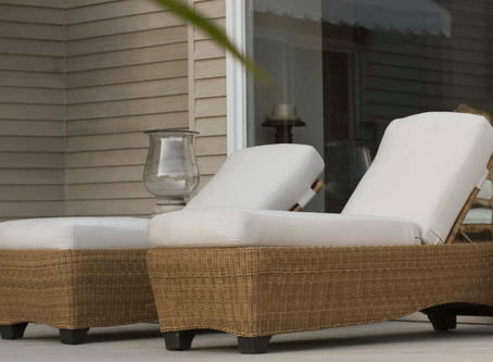 Beautiful outdoor seating options.