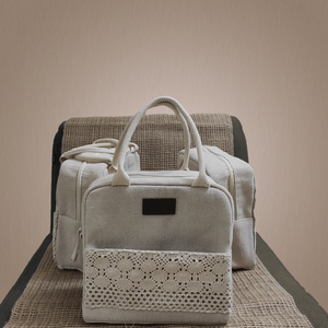 Jute Embroidered Lunch Bag