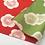 Thumbnail: Furoshiki doble faz ALBARICOQUE rojo y verde