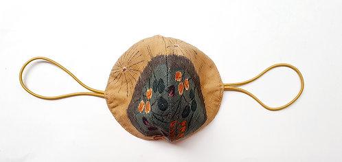Tela Japonesa / ESPERAR LA PRIMAVERA fondo trigo bola flores aguamarina