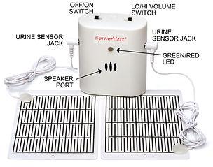 SprayAlert Pet Urine Alarm with two Standard Urine Sensors | dog pee alarm to stop dog marking in home