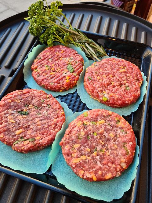 Steak, cheese & chive burger