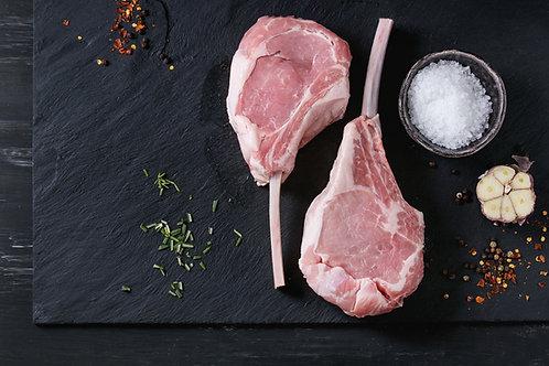 Tomahawk Pork Loin Chop