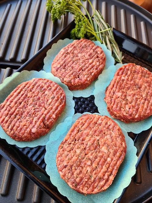 Venison, Pork, Redcurrant & Basil burger