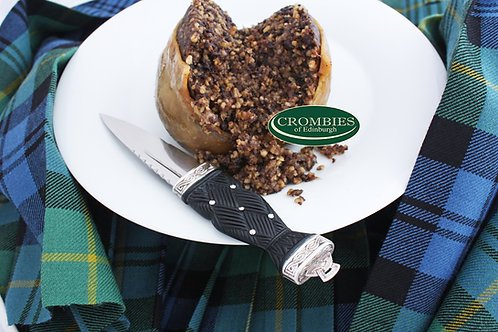 Haggis pack with non gluten containing ingredients
