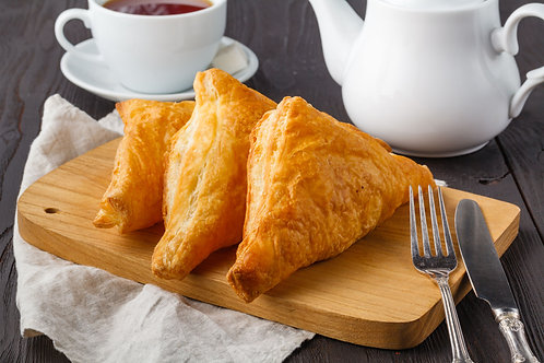 Cooked Cheese, Onion and Potato Pasty