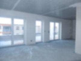 Rohbau Penthousewohnung vorher