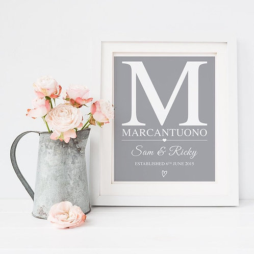 Wedding Gift Personalised Print
