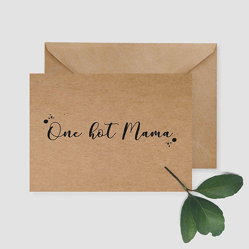 One Hot Mumma card