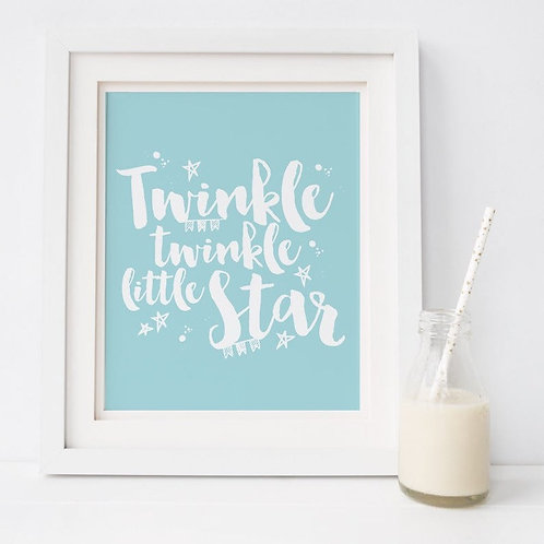 Twinkle Twinkle Little Star Nursery Print