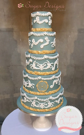 James and Sumit wedgewood inspired cake