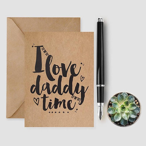I Love Daddy card