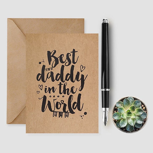 Best Daddy In The World card