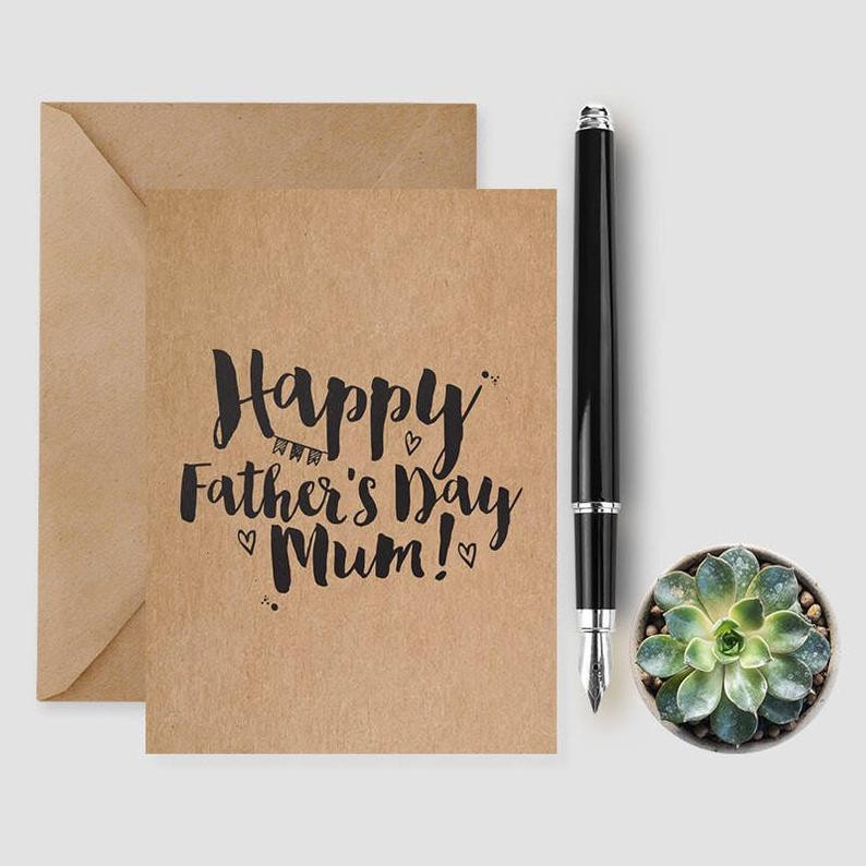 Father's Day card personalised Lubelu London