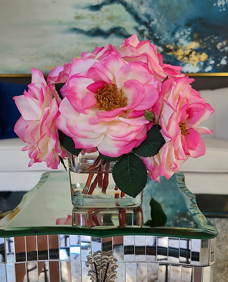 """Fresh picked """"Real Touch"""" Roses"""