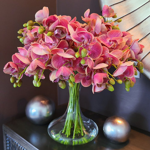 """Cascading """"Real Touch"""" Orchids"""