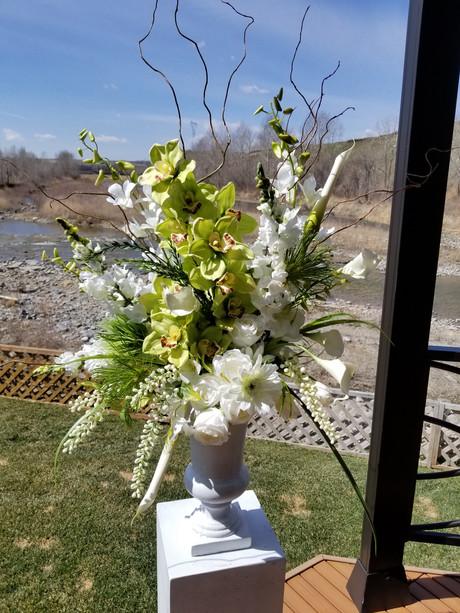 Wedding faux arrangement