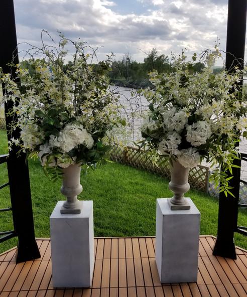 Set of large Whimsical floral arrangements