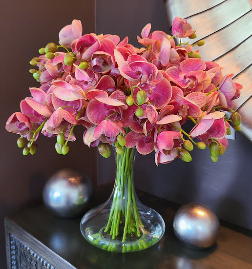 "Cascading ""Real Touch"" Orchids"