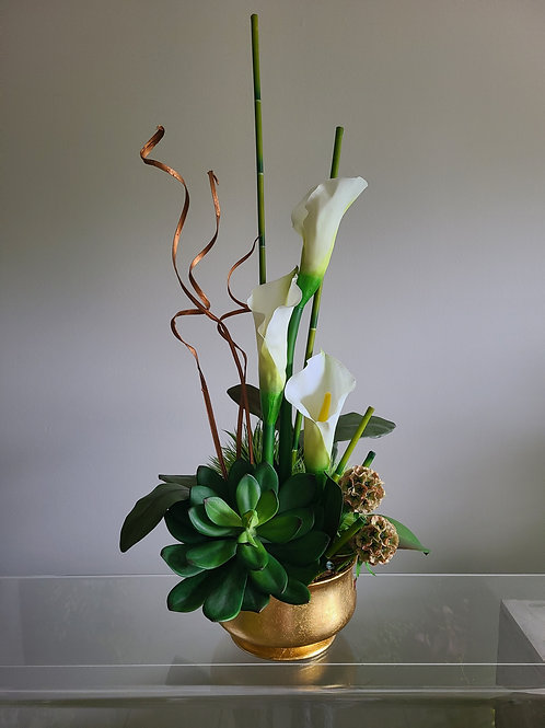 Tall Lilies and succulent