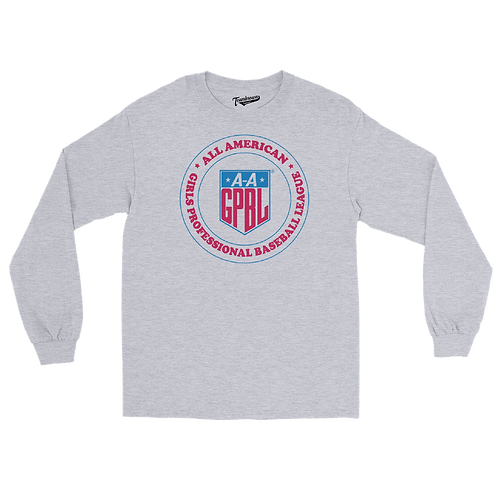 AAGPBL Crest - Unisex Long Sleeve Crew T-Shirt
