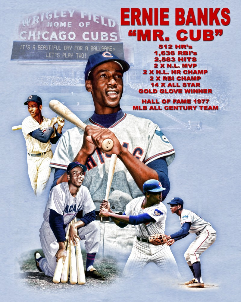 Ernie Banks wins his 2nd MVP Award