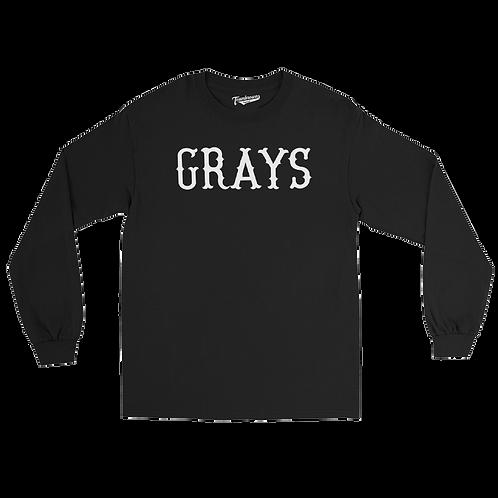 Homestead Grays Uniform - Unisex Long Sleeve Crew T-Shirt