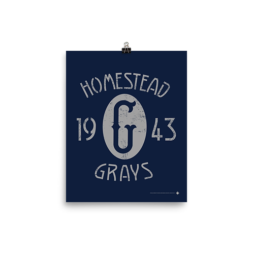 Homestead Grays / Griffith Stadium - 1943 Champions - Matte Paper Giclée-Print
