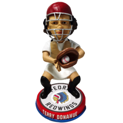 Terry Donahue - Peoria Redwings - AAGPBL Bobblehead