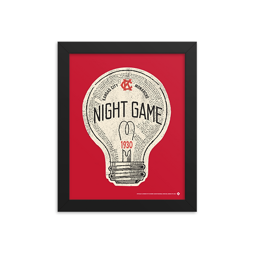 1st Night Game - KC Monarchs 1930 - Giclée-Print Framed