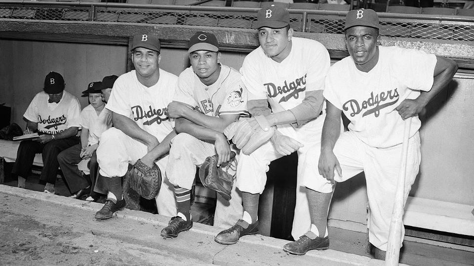 1949 All-Stars – Campanella, Doby, Newcombe and Robinson
