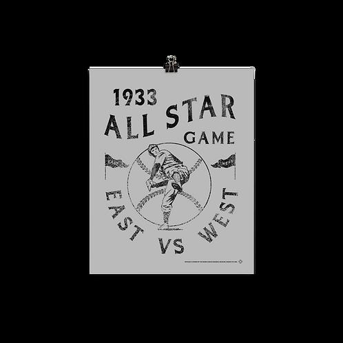 1933 East vs West All Star Game - Matte Paper Giclée