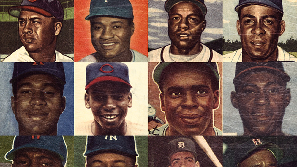 A montage of baseball's pioneers