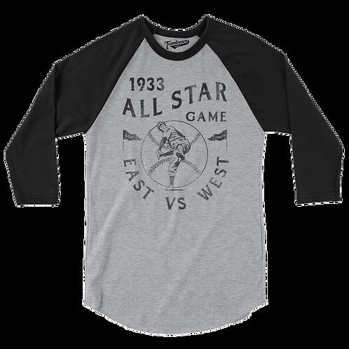 1933 East vs West All Star Game - Baseball Shirt