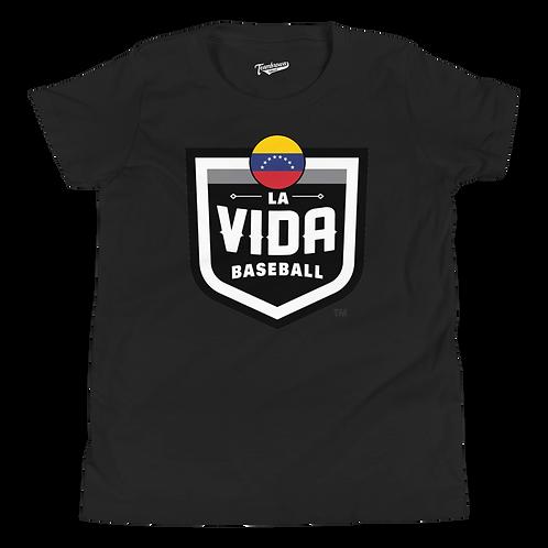 VENEZUELA La Vida Baseball Country Crest - Kids T-Shirt