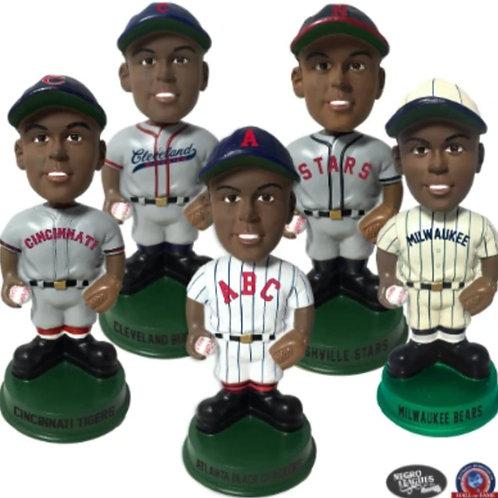 Set of Five - Negro Leagues Vintage Bobbleheads - Green Base - PRESALE